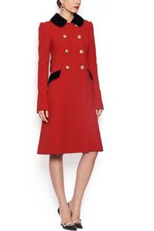DOLCE & GABBANA velvet details coat