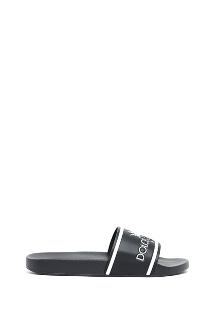 2018 Fraîche Obtenir De Nouvelles Dolce & Gabbana Dolce & Gabbana Black Milano Logo Slides X8zl8