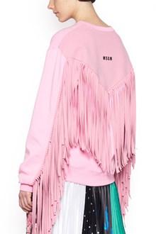 MSGM fringe sweatshirt