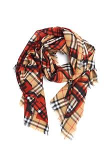 BURBERRY 'market text gauze' scarf