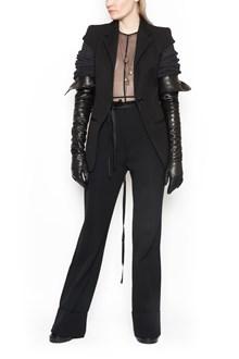 ANN DEMEULEMEESTER bimaterial jacket