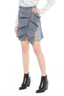 SELF PORTRAIT check skirt
