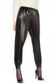 PHILOSOPHY DI LORENZO SERAFINI eco-leather sweatpants