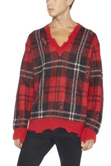 ALEXANDER MCQUEEN maglione check