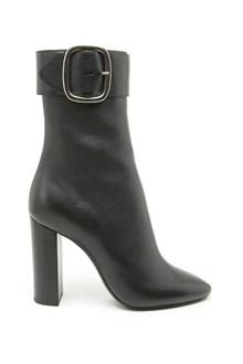 SAINT LAURENT buckle ankle boots