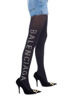 BALENCIAGA strass logo tights