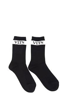 VALENTINO 'vlnt' socks