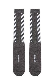 OFF-WHITE 'diag long' socks