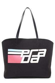 PRADA racing logo tote