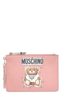 MOSCHINO 'teddy pin' clutch