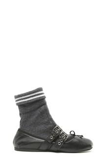 MIU MIU socks ballet flats