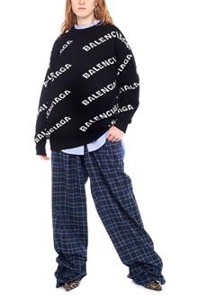 BALENCIAGA all over logo sweater