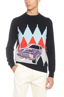 BALLANTYNE diamond pattern and car sweater