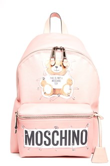 MOSCHINO 'teddy pin' backpack