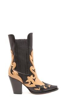 ALBERTA FERRETTI bicolor texan boots