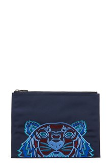 KENZO embroidered clutch