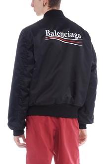 BALENCIAGA political campaign logo bomber jacket