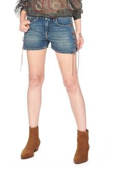 SAINT LAURENT lace up shorts