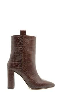 PARIS TEXAS croco printed ankle boots