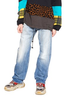 BALENCIAGA fringed hem jeans