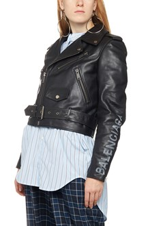 BALENCIAGA cropped biker jacket