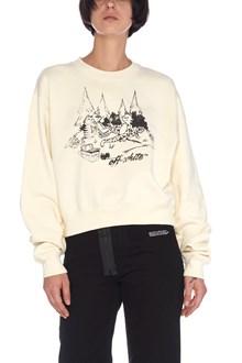 OFF-WHITE 'dejeuneur crop' sweatshirt