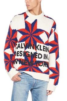 CALVIN KLEIN 205 W39 NYC intarsia sweater