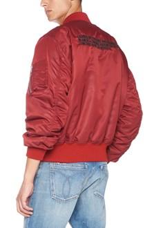 CALVIN KLEIN 205 W39 NYC logo bomber jacket