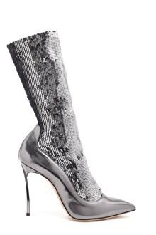 CASADEI sequins socks pumps