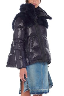 SACAI eco fur down jacket