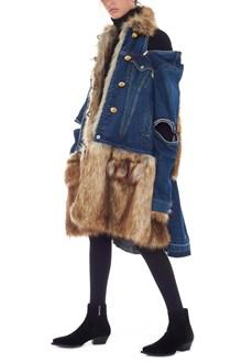SACAI eco fur jacket