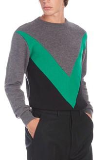 AMI ALEXANDRE MATTIUSSI maglione intarsio contrasto