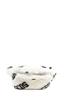 GCDS eco fur fanny pack