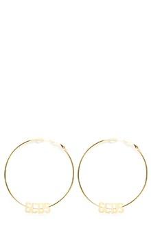 GCDS logo loops earrings