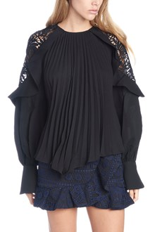SELF PORTRAIT pleated blouse