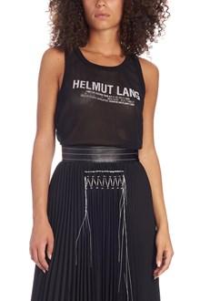 HELMUT LANG 'mesh logo tank' top