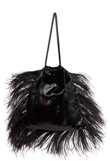 ATTICO ostrich feathers clutch