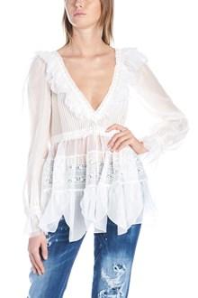DSQUARED2 voile details blouse