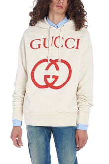 GUCCI felpa con cappuccio 'interlocking g'