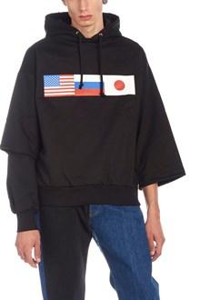 GOSHA RUBCHINSKIY double sleeve hoodie
