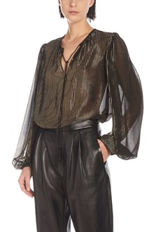 SAINT LAURENT lurex blouse