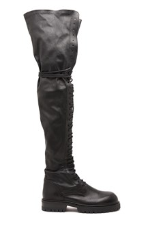 ANN DEMEULEMEESTER over the knee combact boots