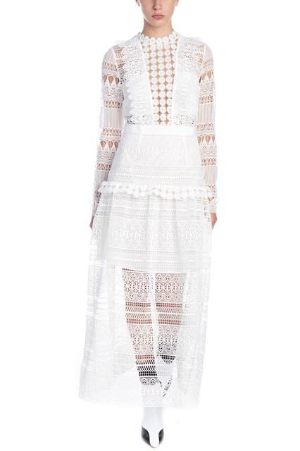 d2552e1038ce SELF PORTRAIT  Spiral lace  dress - COD. SP20079MIVORY