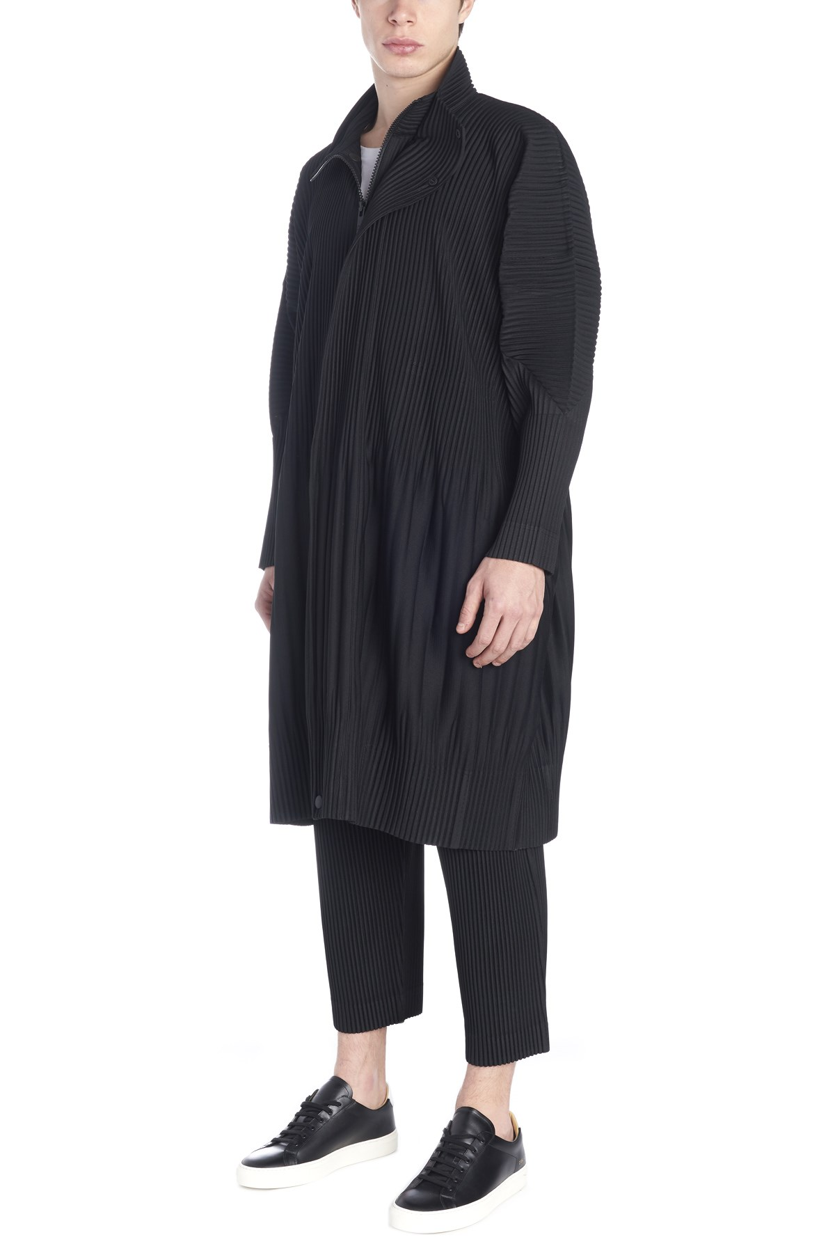 be1616c412f homme plisse  issey miyake pleated coat available on julian-fashion ...