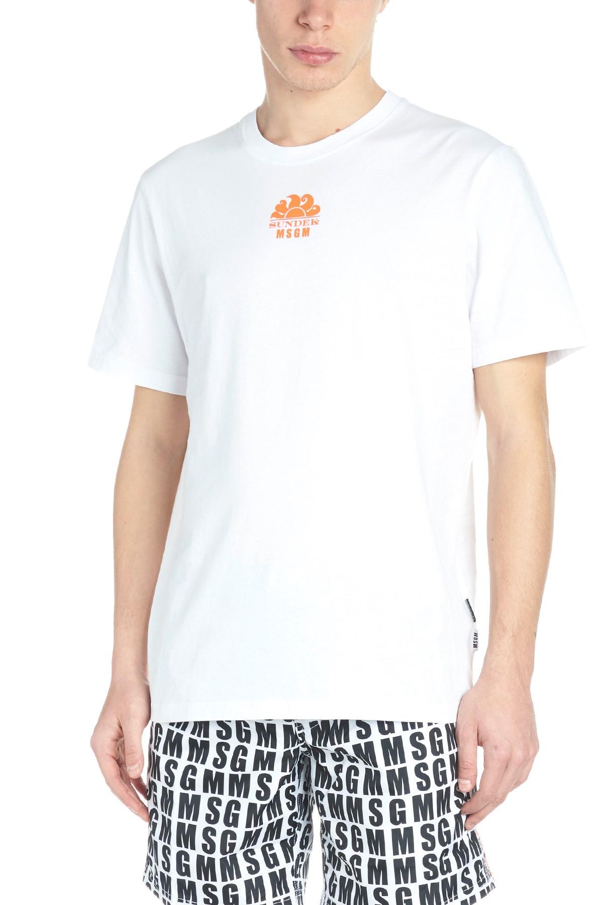 msgm T-shirt  Msgm x Sundek  su julian-fashion.com - 64120 77ae90e4208