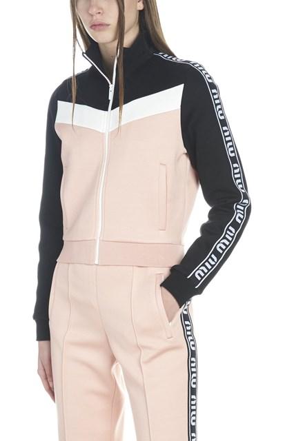 70904638db1f MIU MIU logo band sweatshirt - COD. MJL6381TNKF0442