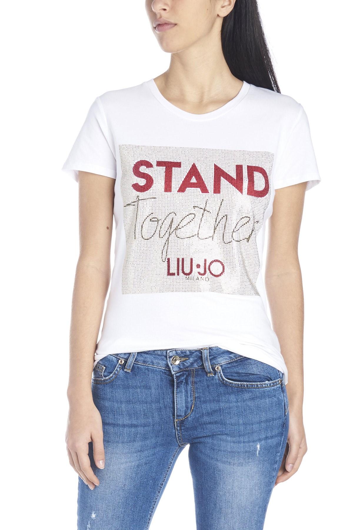 1a67ecb55c liu jo 'Stand together' t-shirt available on julian-fashion.com - 64259