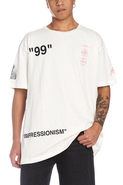 ac8ae780806 OFF-WHITE  Boat  t-shirt - COD. OMAA038R1918501102880288