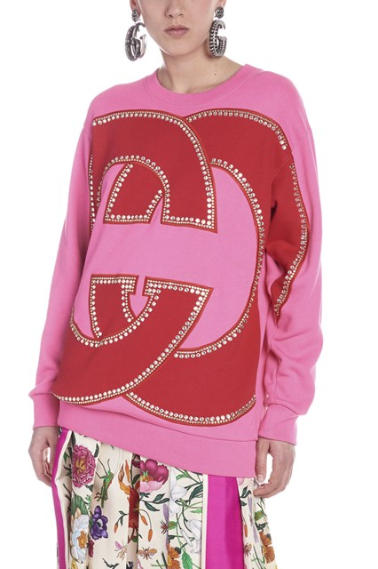 6efb494207726 GUCCI logo strass sweatshirt - COD. 469250XJASE5152