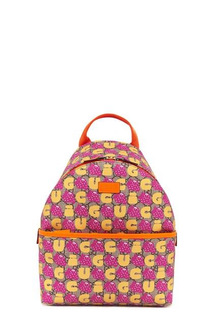645275200947 GUCCI gg supreme & strawberries backpack - COD. 271327939EN8691